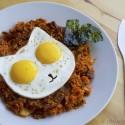 molde de huevos con forma de gato