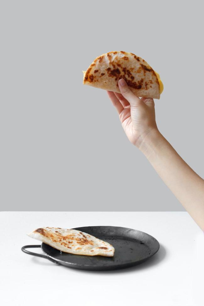 wrap y tortitas de pollo mexicano